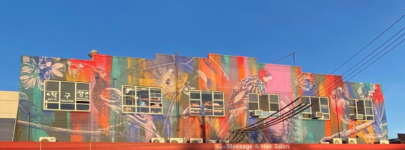 Parramatta Council News_ Native wildlife mural in Rydalmere